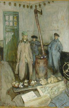 "Edouard Vuillard - ""Interrogation of the Prisoner"" 1917."