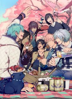 """ubunku: """" I dunno if you noticed but Noiz is wearing a jean jacket??!?!? Like holy cow he's rocking it!?!??!?! He also has different piercings too omg!?!?! and Koujaku's wearing a really dumb looking..."""
