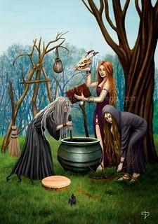 A canção da Bruxa   Que eu seja como aquela que tece o pano na floresta, profundamente escondida. Que eu possa fazer o meu trabalho s...