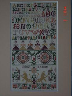 cross stitch eigen ontwerp 16 draads linnen        J.J.M.Mantel