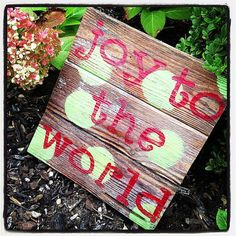 JOY to the  WORLD Rustic Sign by lovinmyboys on Etsy, $30.00
