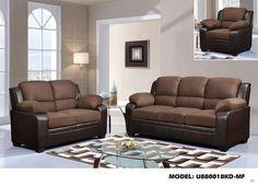 Global Furniture Sofa Er 203/Brown Pu