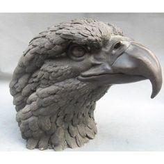 Bird Sculpture, Animal Sculptures, Bronze Sculpture, Ceramic Animals, Ceramic Birds, Dog Anatomy, Modelos 3d, Toy Art, Animal Heads