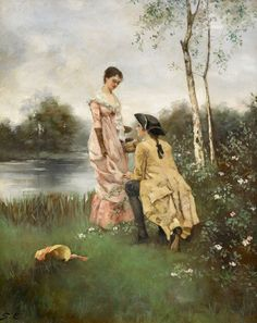 Image uploaded by not so edgy teen. Find images and videos about love, art and wedding on We Heart It - the app to get lost in what you love. Victorian Paintings, Victorian Art, Art Through The Ages, Romance Art, Historical Art, Classical Art, Couple Art, Love Painting, Beauty Art