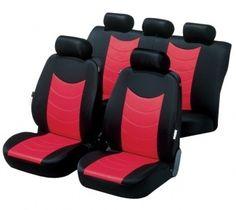 Dick kaschierter Sitzbezug Felicias rot mit modischer Prägung.