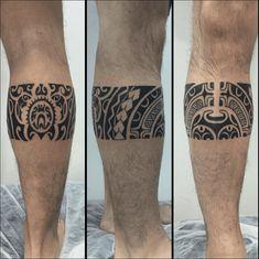 maori tattoos for men Leg Band Tattoos, Tribal Band Tattoo, Tribal Forearm Tattoos, Best Leg Tattoos, Tribal Tattoos For Men, Hand Tattoos For Guys, Leg Tattoo Men, Calf Tattoo, Polynesian Tattoo Sleeve