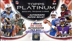 2013 Topps Platinum Football Cards Hobby Box - New! $84.95