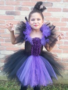 Maleficent Inspired Tutu Dress....costume by TheBerryNiceBoutique, $79.99