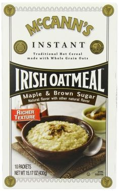 McCANNS Instant Irish Oatmeal Maple  Brown Sugar 10Count Boxes Pack of 6 -- For more information, visit image link. Note: It's an affiliate link to Amazon.