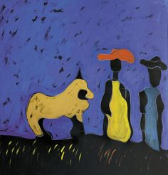 Tano Festa (Italian, 1938-1988), Balaklava, 1986. Acrylic on canvas, 100 x 100 cm.