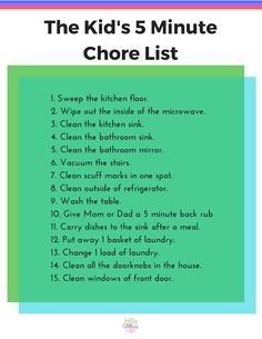 The 5 Minute Chore List|The Holy Mess