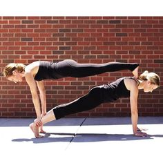 acro yoga stacked plank pose