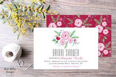 Hand Painted Floral Bridal Shower Invitations. Available printed or printable. @June Arbor Designs www.etsy.com/shop/junearbordesigns #handpainted #etsy #etsyshop #etsypaper #etsyinvitations #etsyseller #etsylove #etsysale #watercolorfloral #bridalshower #invitations #bridalshowerinvitations #bride #coupleshower #pinkflowers #weddingshowerinvitation #pink #printable #DIYinvitaitons #printed