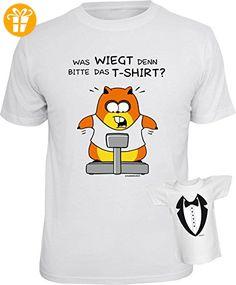 lustiges witziges T-Shirt Funshirt Leiberl mit Mini Shirt - Geburtstag Geschenk Geschenkidee Weihnachten Papa Freund Karneval Was wiegt ... Gr: XL (*Partner-Link)