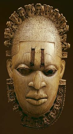 *i love this mask! i can not wait to get a tattoo of it on my back! yes i said it a tattoo!* 16th Century Benin, Ivory mask, Nigeria