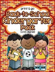 Back to School Kindergarten Pack! Enter for your chance to win 1 of 3. Back to School Kindergarten Pack ~ Print & Go, No Prep ~ CCSS Aligned  (85 pages) from The Teaching Treehouse on TeachersNotebook.com (Ends on on 06-11-2016) This print and go pack covers literacy, math, and science skills that are recommended for children to possess upon entering Kindergarten. This pack was designed to both assist parents in readying their child for entering Kindergarten, and to serve as an assessment…
