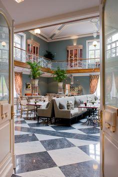 La sala de desayunos del Vidago Palace. Oporto