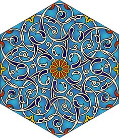 Hexagonal floral design.
