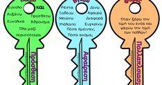 Λέξεις κλειδιά για τις τέσσερις πράξεις (ασπρόμαυρα ή έγχρωμα) για το κάθε παιδί ξεχωριστά. Μπορεί να τα συμβουλεύεται κάθε φορά που έχει...