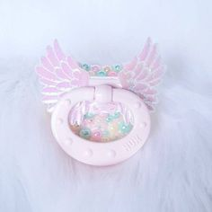 Angelic Holographic Wing Adult Pacifier! ABDL and Little Love! <3 Fairy Kei Pacizz!