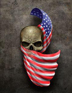 Skull+Flag Tattoo by *Frank-Walls