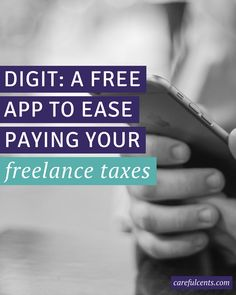 Digit is a completely free, text-based app, that allows you to save very small amounts of money based on what you can easily afford in your checking account. Read more about how I use it to help pay for my self-employment taxes as a freelancer.