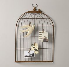 Birdcage Memory Board | Accessories | Restoration Hardware Baby & Child