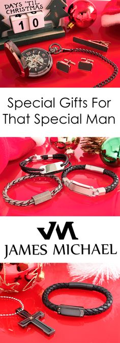 Looking for the perfect gift for that hard to find man in your life? Check out the collection of money clips, cuff links, bracelets, pocket watches and more from James Michael.