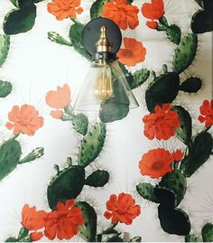 Perfect for bedrooms, home office's, cafe's, bar's, you name it the Cactus Wallpaper Design will look amazing! It adds such wonderful color, depth and texture the space, a wonderful home decor piece. Interior Wallpaper, Wallpaper Ideas, Cactus Decor, Works With Alexa, Wooden Dolls, Dollhouse Dolls, Dollhouse Furniture, Designer Wallpaper, Wall Sticker