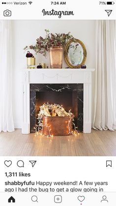 Fake fireplace idea that takes minutes to make! Do you have a mantel surround or a fireplace in your home that serves no real purpose? Here\u0027s a fun DIY!