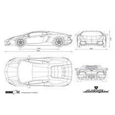 automobile blueprints car blueprints lamborghini pictures automobile gallery pinterest. Black Bedroom Furniture Sets. Home Design Ideas