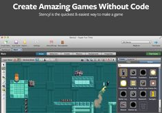 Game Design - Create Amazing iPhone, iPad, Android, Mac, Windows and Flash Games Games Without Code - Stencyl is the quickest and easiest way to make a game. Programming Tools, Computer Programming, Computer Science, Computer Class, Linux, Make Your Own Game, Test Games, Mac Games, Coding For Kids