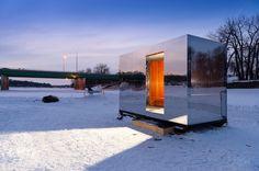 warming huts constructed along winnipeg's frozen rivers