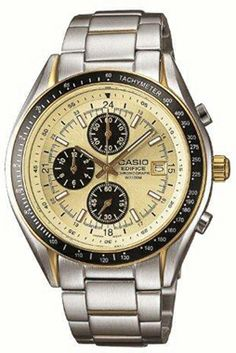 Casio Mens Edifice Silver Stainless-Steel Quartz Watch with White Dial Cheap Watches, Cool Watches, Watches For Men, Wrist Watches, Men's Watches, After Earth, Casio Edifice, Watches Online, Metal Bands