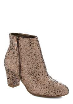 Ideal Dance Partner Bootie - Mid, Bronze, Solid, Glitter, Luxe, Statement, Party