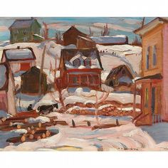Alexander Young Jackson - Group of Seven - Winter by Waddington's Group Of Seven Artists, Group Of Seven Paintings, Small Paintings, Nature Paintings, Canadian Painters, Canadian Artists, North Country, Country Art, Winter Painting