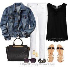 A fashion look from August 2014 featuring Vero Moda blouses, Gap jackets and H&M jeans. Browse and shop related looks.