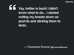 """From """"10 best tweets and posts about Twitter being down"""" story by Jeff Elder on Storify — http://storify.com/jeffelder/10-best-tweets-and-posts-about-twitter-being-down"""