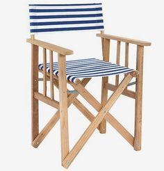MONOQI | Director Chair - Blue/White