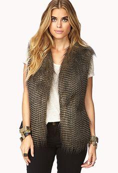 Luxe Faux Fur Vest | FOREVER21 - 2079502083