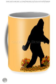 * Gone Thanksgiving Squatchin' Thanksgiving Mug by #Gravityx9 at FineArtAmerica and Pixels * This Gone Squatchin' design is available on tee shirts, stickers, home decor & more. *Thanksgiving coffee mugs * holiday coffee mug * coffee mugs gift ideas * Thanksgiving coffee mugs gift ideas * gift ideas coworker * gift ideas friends * gift ideas adults * gift ideas coffee lovers * #Thanksgiving #Thanksgivingmug #holidaymug #Sasquatch #Thanksgivingcoffeemug #Fallseasonsbest #Squatchme 1020