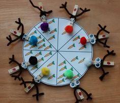 Christmas and Winter Counting Math Preschool Printable