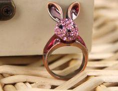 Exquisite jewelry cute rabbit ring - $4.99USD