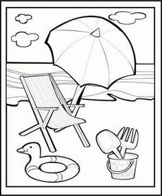 disegni da colorare mare spiaggia - Cerca con Google