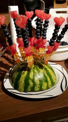 Obstspieße mit Gummibärchen nascherrei :-)