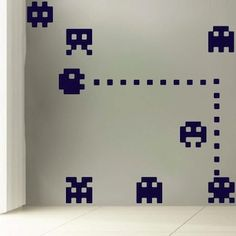 Atari Wall Decals - Pacman Stickers - Trendy Wall Designs