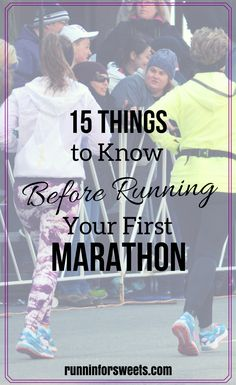 Running your first marathon is an incredible accomplishment. Here are 15 things I wish I'd known before running my first marathon. | Marathon Training | Running Tips | Running for Beginners #runningforbeginners
