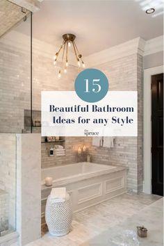 Next Bathroom, Bathroom Ideas, Shower Ideas, Black White Bathrooms, Luxury Master Bathrooms, Small Showers, Bathroom Makeovers, Half Baths, Bathroom Design Small