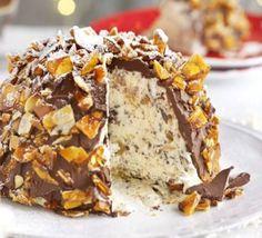 Chocolate, ginger & praline bombe