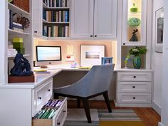 Small White Home Office Decoration Ideas